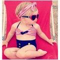 1-8Year Lindo bebé niñas rain bow Fringe Bikini string traje de baño de natación para niños de cintura alta traje de baño biquini sea infantils