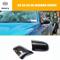 M Style Carbon Fiber Replaced Style Rear View Side Mirror Cover Cap for BMW F25 X3 F26 X4 F15 X5 F16 X6 2014 2015 2016
