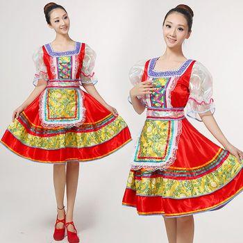 فستان تقليدي تقليدي للرقص الروسي فستان أوروبي للأميرة ملابس أداء المسرح 113001