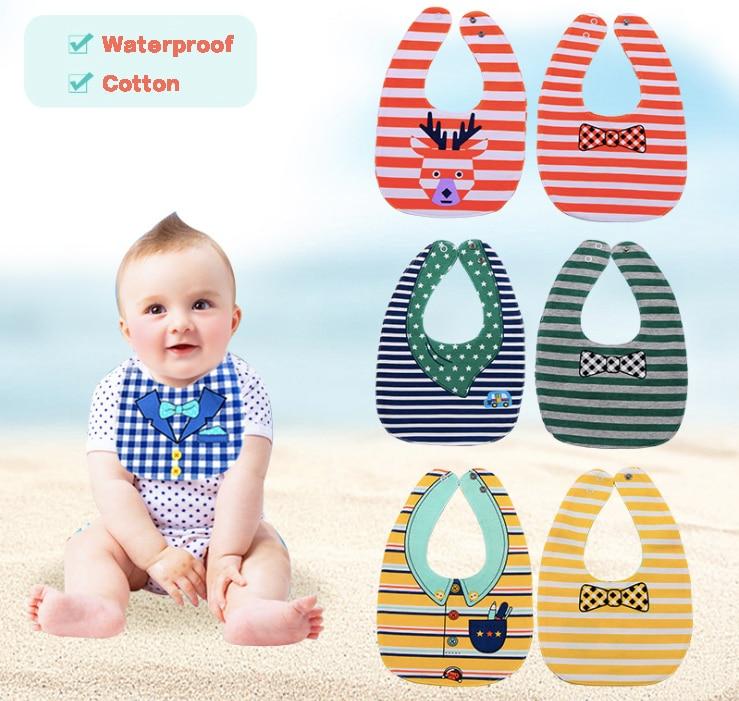Free Shipping Baby Saliva Towel Bib Kerchief Cartoon Cotton Triangular Scarf Cute Printing Soft Infant Burp Cloths