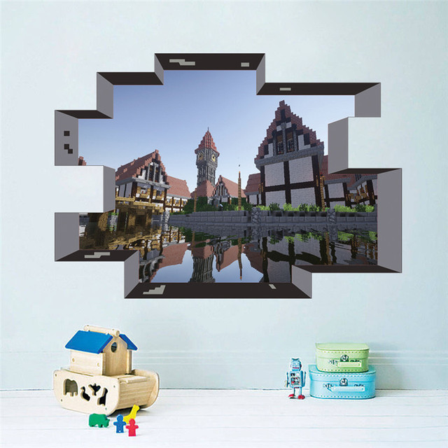 Cartoon Game 3D Wall Stickers For Kids Rooms Mural Poster Home Decor Wall Decals Poster