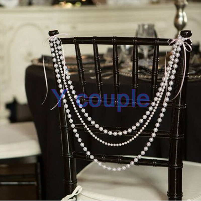 White Pearl Beads Strand Garland Acrylic Wedding