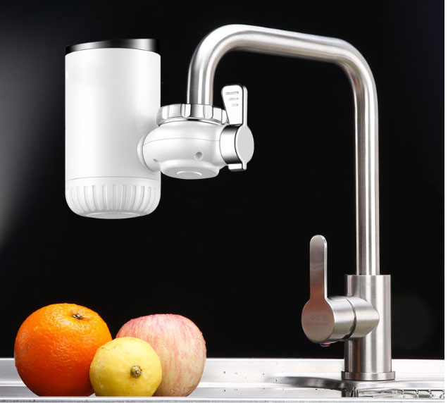instant water heating electric faucet water heater household heating rotary bathroom dry heating auto off protection