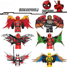 6pcs/set Legoings Super Hero Deadpool With Wings Building Blocks Kit Toys Gifts(China)