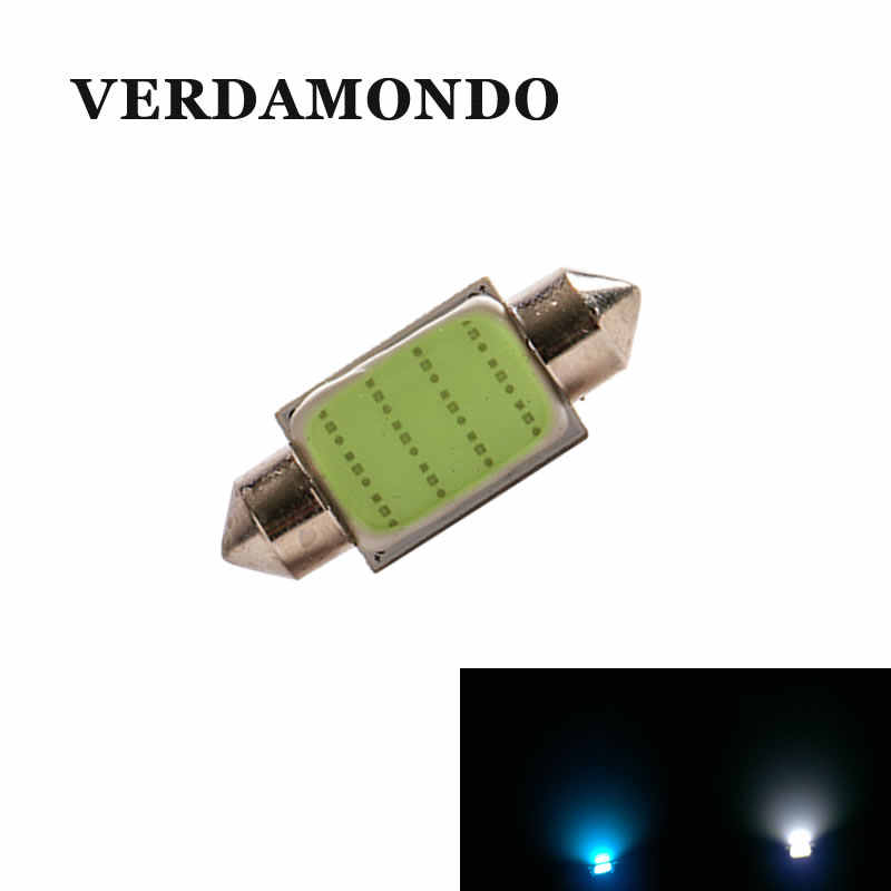31mm 36mm 39mm 41mm COB LED Car Auto Festoon Dome Interior Map Lights Bulb Lamp for DC 12V DE3175 White Ice blue