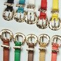 10 Colores de Metal Femenino de La Correa Fina de la Hebilla Cinturones Casuales para Mujeres de Cuero Correas de La Pretina Cummerbund Para Accesorios de la Ropa
