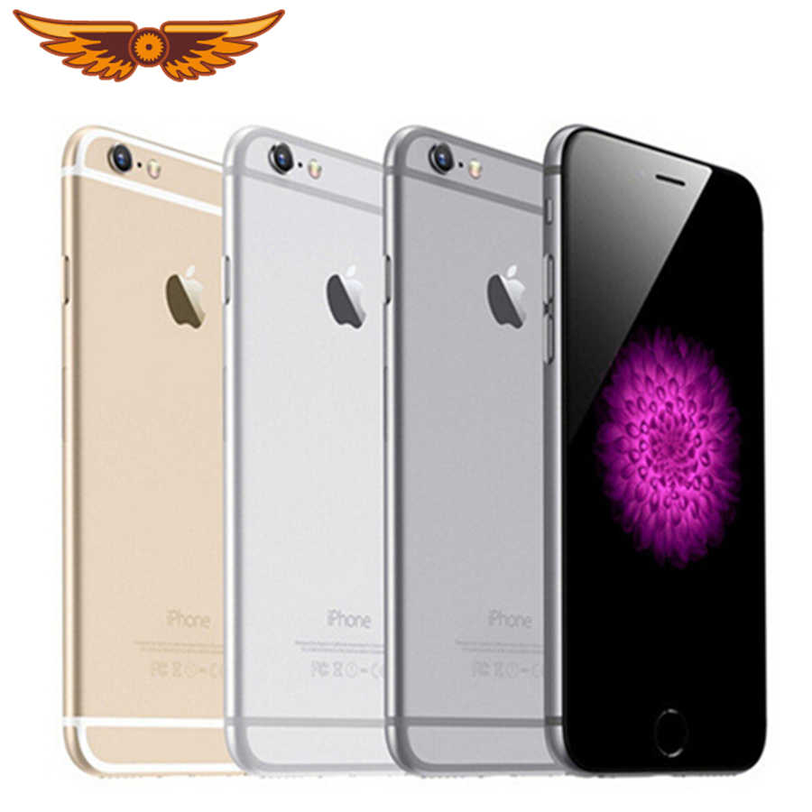 100% Original Apple iPhone 6 Dual Core 4,7 pulgadas 1 GB RAM 16/64 128 GB ROM 8MP Cámara WCDMA LTE IPS IOS desbloqueado usado Smartphone