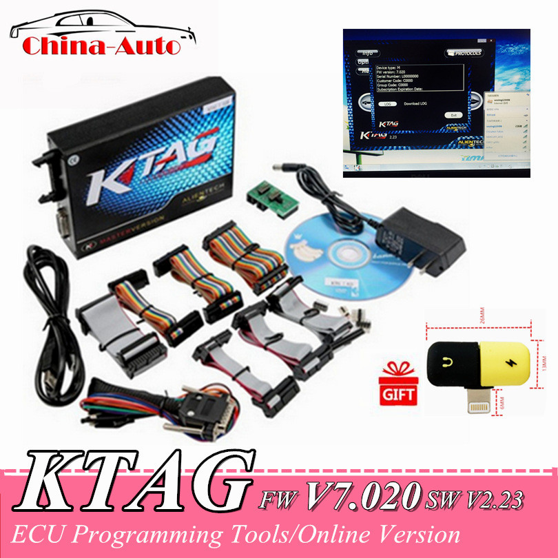 2019 Newest KTAG V7.020 SW V2.23 Online Master Version KTAG 7.020+Gift 100% No Token Tuning For Car Truck ECU Programming Tools-in Code Readers & Scan Tools from Automobiles & Motorcycles