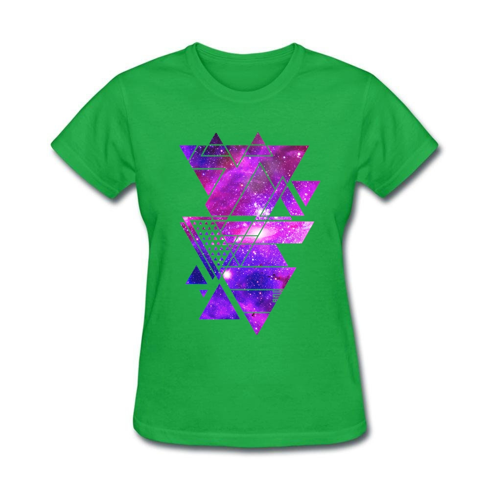 Design your own t-shirt for cheap price - Galaxy Triangles Abstract Geometric Collage Woman 2016 Famous T Shirts Lundi De Paques Own Design T