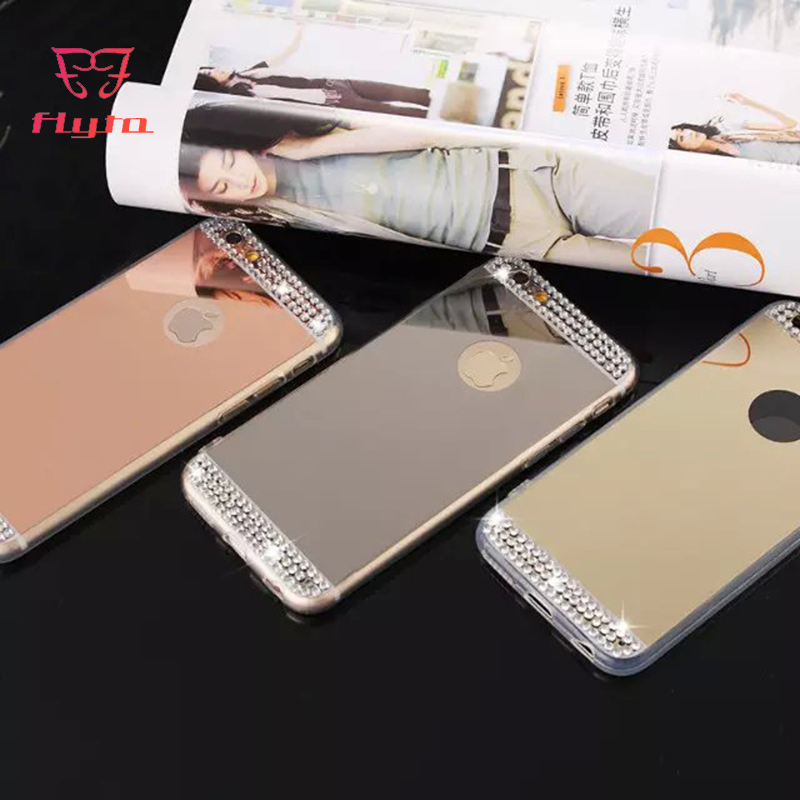 FlyTo Case For IPhone 7 8 Rhinestone Case Phone Bag Case For IPhone 6 6S 5 5S Plus X Plus Phone Pouch For IPhone XR XS MAX Coque