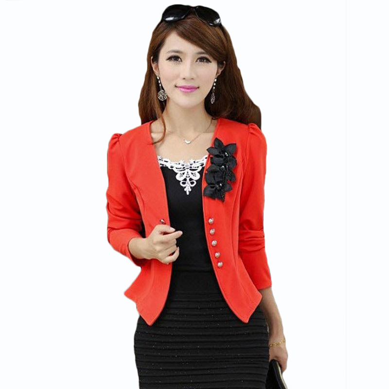 PEONLFY women blazers and jackets Plus Size 5XL Ladies Suit Blazers Feminino Blaser Womens Yellow/White/Black/Pink Blazer Female