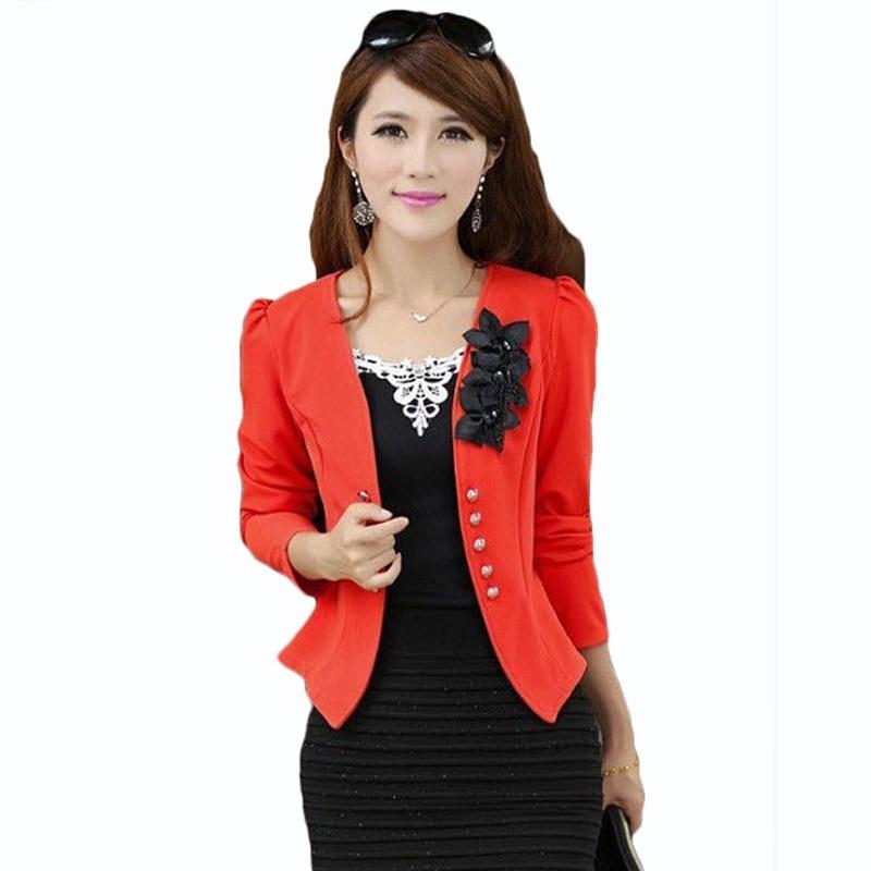Blazers And Jackets: PEONLFY Women Blazers And Jackets Plus Size 5XL Ladies