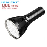 IMALENT MS18 100000 Lumen Big Flashlight High Power LED CREE XHP70 Waterproof Flash light 21700 Battery Intelligent Charging