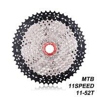MTB 11 速度 11-52 t L カセット黒シルバーワイド比 11 s フリーホイールマウンテンバイク自転車部品 k7 ため X1 XO1 XX1 M9000