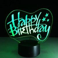 ES-123 ריהוט בית מתנת יום הולדת יצירתיים אופנה פשוט מנורת לילה צבעוני 3D מגע מנורת USB