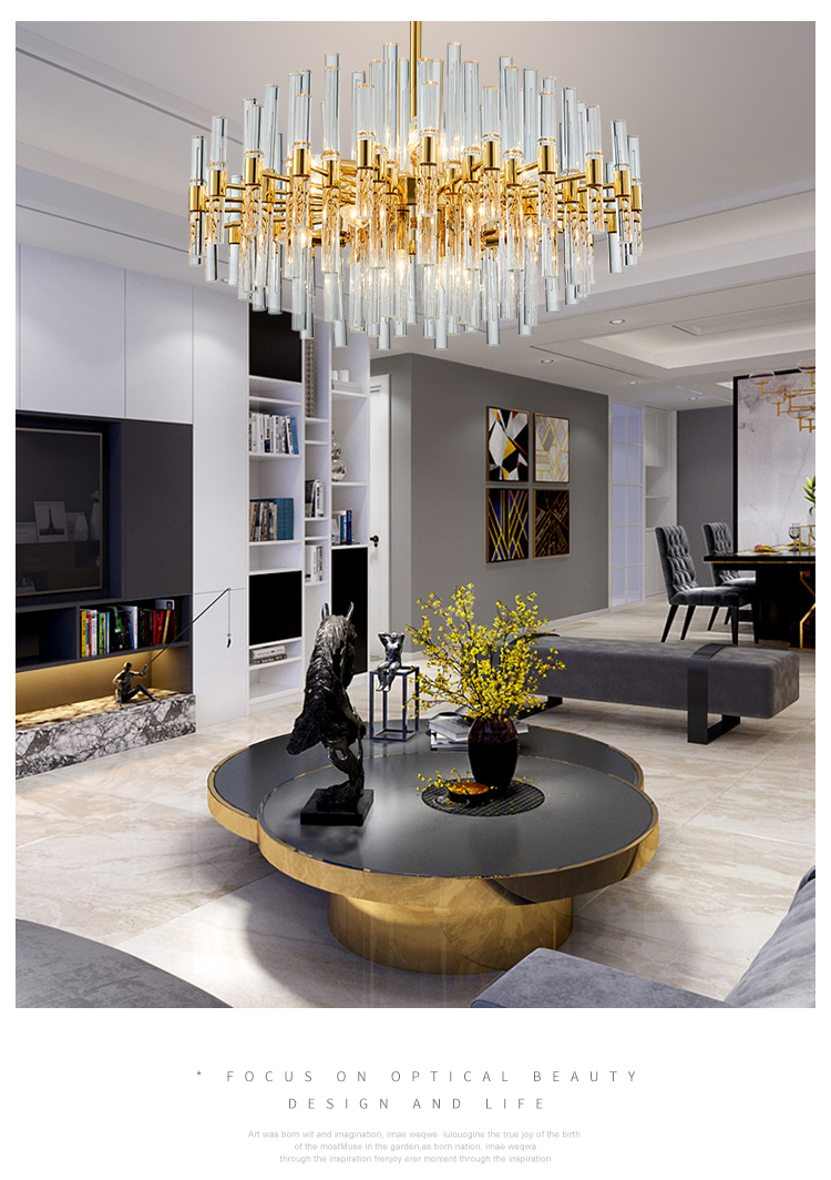 The Living Room Restaurant Us 1259 19 49 Off Lighting Hong Kong Style Lamps Postmodern Light Luxury Restaurant Living Room Lamp Duplex Building Designer Crystal Chandelier In