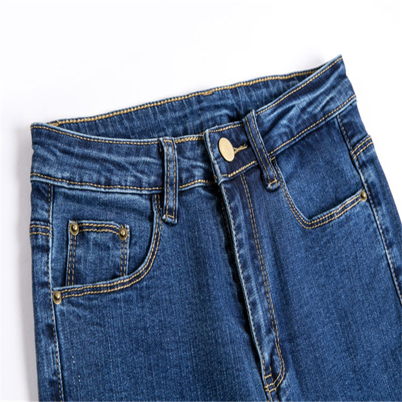 JUJULAND Jeans Female Denim Pants Black Color Women's Jeans Donna Stretch Bottoms Skinny Pants For Women Trousers 8175 6