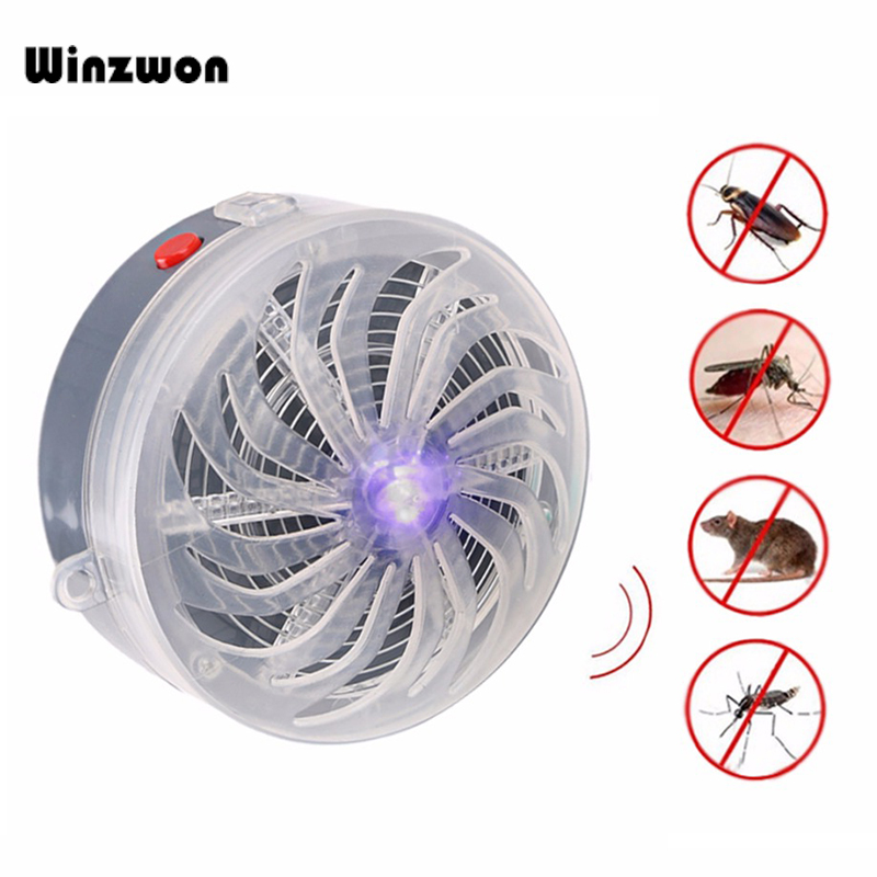 1Pcs Solar Powered Mosquito Killer Lamp Buzz UV Lamp Anti Mosquito Repellent Bug Zapper Fly Insect Killer For Home Bedroom Use(China)