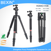 BEIXIN Lightweight Portable Travel Carbon Fiber detachable professional Tripod With Ball head for digital SLR DSLR