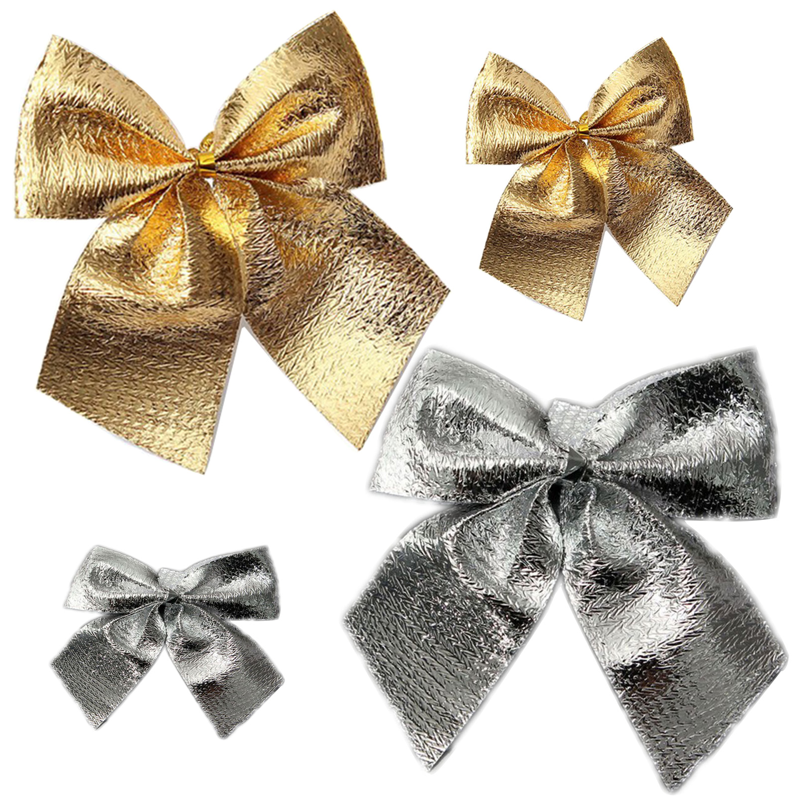 24Pcs Ribbon Christmas Decoration Bows Christmas Trees Bow ...