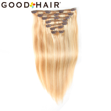 GOOD HAIR Non-Remy Brazilian Straight Hair Full Head Set 7pcs 105g/set  Clip In Human Hair Extensions 18-22 Inch Available