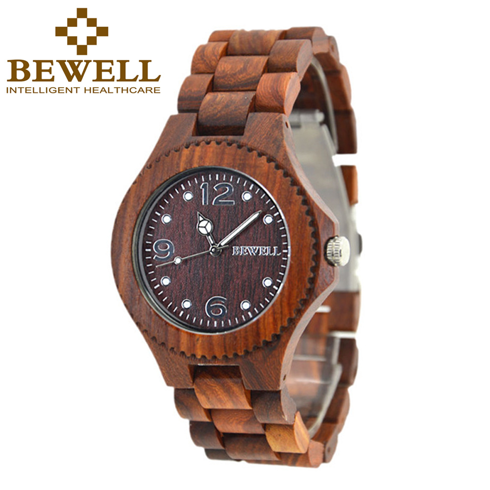 BEWELL Wood Watch Men Women Clock Ladies Watch Mens Watches Top Brand Luxury Relogio Feminino masculino With Paper Box 038A bewell 2017 hot sale fashion wood watch men mens watches top brand luxury reloj hombre big horloges mannen with gift box 100ag