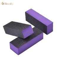 10Pcs/Lot Purple Nail Buffer File Block 100/180 Sanding File Professional UV Gel Sponge Boards Nail Polished Manicure Tools