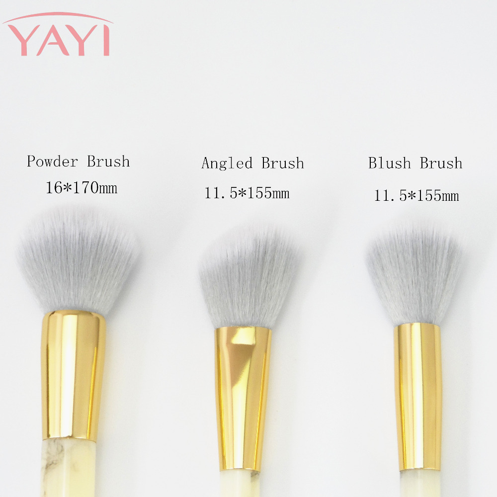 Yellow Marble Makeup Brush Set Eyeshadow Foundation Powder Marbling Kuas Blush On 511 Eyebrow Apply With The Perfect Face