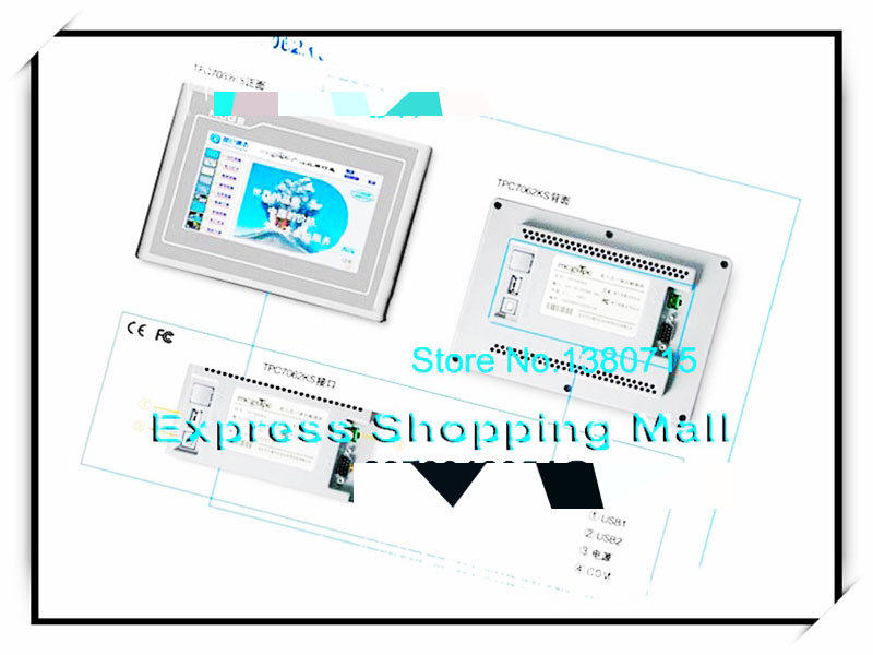 New TPC7062KS 7 inch 2 com programming cable Touch Screen HMI new 7 inch