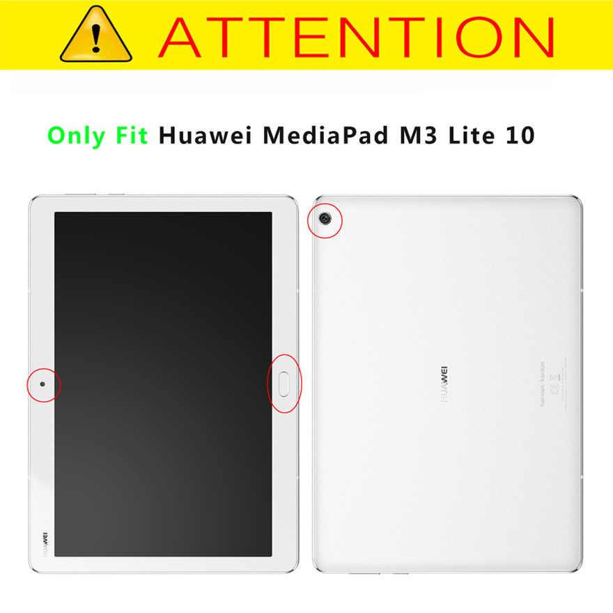 """الذكية المغناطيس حافظة لهاتف huawei MediaPad M3 لايت 10 BAH-W09 BAH-AL00 10.1 """"اللوحي بو الجلود جراب واقٍ + فيلم + القلم"""