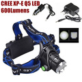 AloneFire HP79 outdoor cree led Headlight CREE Q5 LED 600Lumens Zoom LED Headlamp lights For 2x18650 Battery+Charger/Car Charger