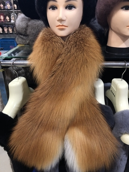 New Red Fox Fur Scarf Thick Fur Neck Ring Fox Fur Shawls Cape Mulit Color Top Quality