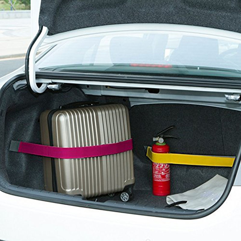 CHIZIYO Practical Car Trunk Fixed Storage Stowing Tidying Sticky Tape Belt Supplies  60CM Trunk Organizer