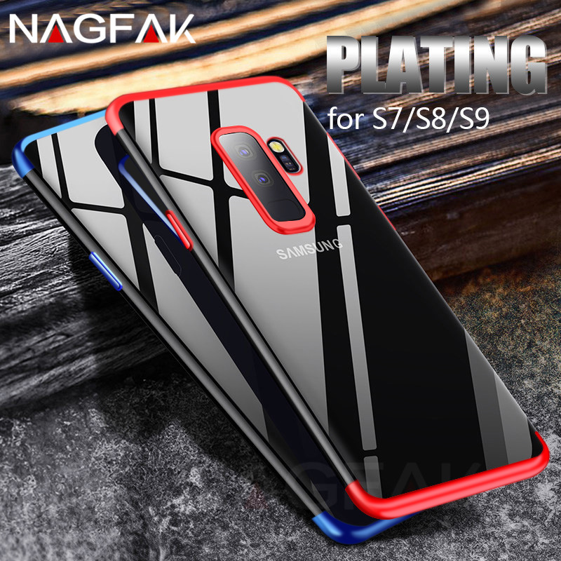 Luxury Soft TPU Silicone Phone Cases For Samsung Galaxy S9 S8 Plus S7 Edge Note 8 Case Full Cover For iPhone 7 6s 8 Plus X Shell