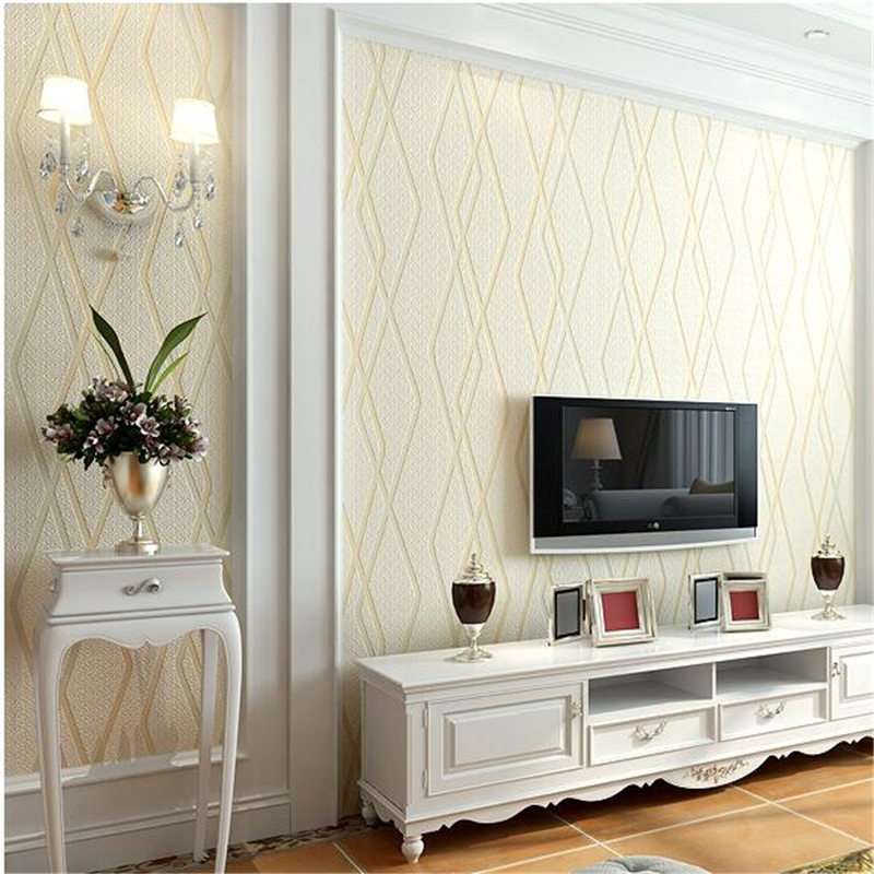 beibehang Modern thick flocking wallpaper non - woven bedroom living room television background wallpaper wall deer leather non woven bubble butterfly wallpaper design modern pastoral flock 3d circle wall paper for living room background walls 10m roll