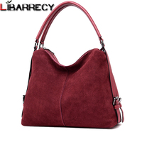 Nubuck Suede Shoulder Bag Female Casual Split Leather Women Handbags Simple Crossbody Bags for Women Designer Messenger Bags Sac