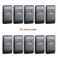 10pcs Access Control Proximity Card Reader Wiegand 26 34 EM ID 125KHz Reader ABS Shell Waterproof