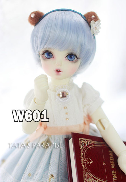 NEW !!  1/ 3 1/4 1/6  BJD wig short blue hair  High-Temperature Wire for 1/3 1/4 1/6  BJD SD dollfie