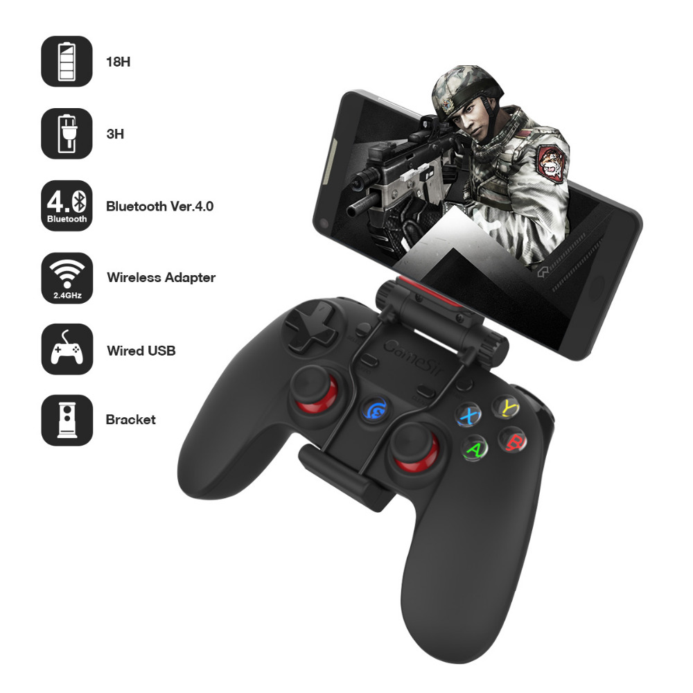 все цены на GameSir G3s Gamepad for PS3 Controller Bluetooth&2.4GHz snes nes N64 Joystick PC for Samsung Gear VR Box for SONY Playstation 3