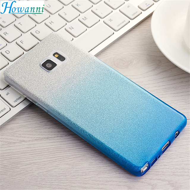 "Gradient Color Case For Samsung Galaxy Note 7 Case Silicone SM-N930F 5.7"" Luxury Soft Back Cover For Samsung Note 7 Case Capa"