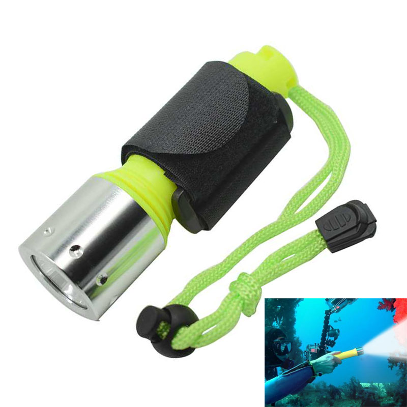 Mini Scuba Diving Torch Flashlight 220LM USB Rechargeable 10180 Underwater 50M