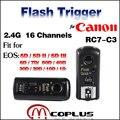 Майке MK-RC7 C3 16 Профессиональных Каналов Беспроводной Вспышки Триггера Трансиверы для Canon EOS 5D Mark II III 6D 7D 10D 20D 30D 50D