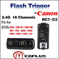 Meike MK-RC7 C3 16 Professional Channels Wireless Flash Trigger Transceivers for Canon EOS 5D Mark II III 6D 7D 10D 20D 30D 50D