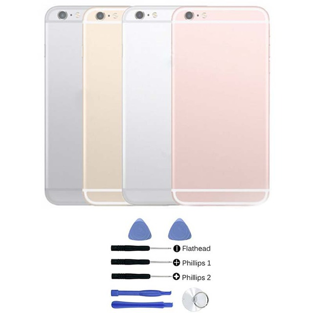 """Brand New For iPhone 6s 4.7"""" Replacement Chassis Back Housing Back Cover with LOGO& Buttons&Sim Tray High Quality + Free Tools"""