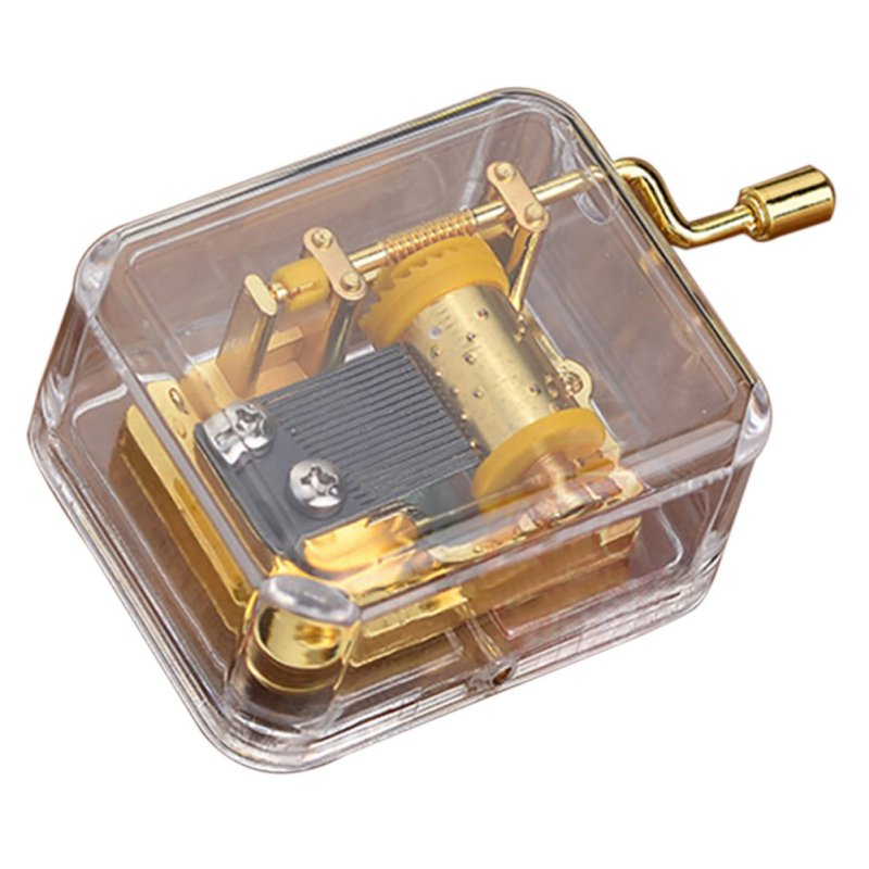 Castle In The Sky / Lass es gehen / Du bist mein Sonnenschein 18 note Acryl Clear Gold Handkurbel Gurdy Musical Mechanism Music Box