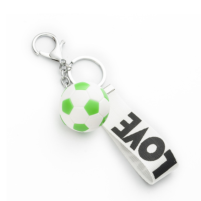 Hot sell soccers Holder Keychain football Ornament Key Ring fans gift colourful new soccer free shipping