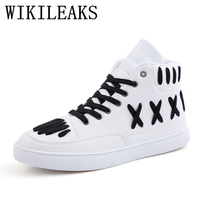 2018 Spring High Top Street Dancing Shoes Men Luxury Brand Sneakers White Designer Versio Casual Shoes