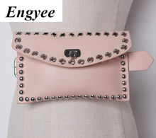 Engyee New Style Female Designer Mini Waist Bag Fashion Hollow Waist Pack Belt Bags For Women High Quality Leather Hip Bag Women(China)