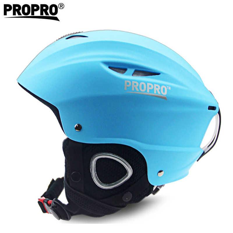 Kualitas Bulan Ski Helm Ultralight Secara Integral Dibentuk Anak Keselamatan Hangat Helm Dewasa Pria Wanita Snowboard Monoboard Salju Skatie
