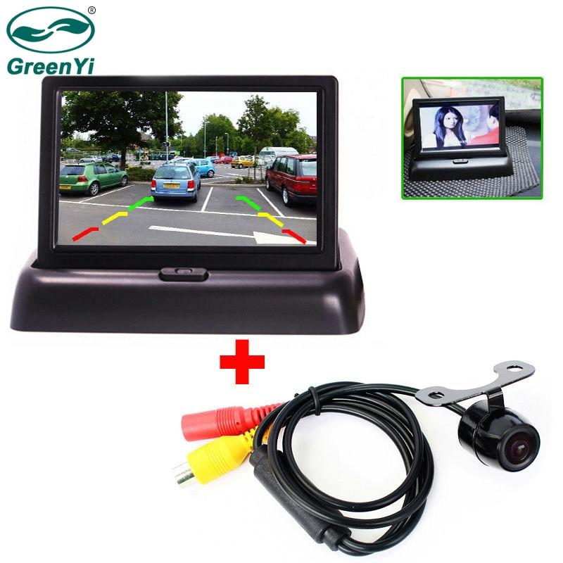 "4.3/"" TFT-LCD Car Color Rear Screen Monitor With Car Rearview Backup Camera Kit"